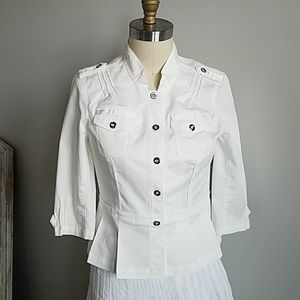 NWOT White House Black Market Fitted Blouse